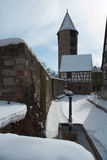 中世纪冬天 库存照片
