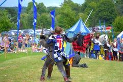 中世纪剑战斗 库存照片