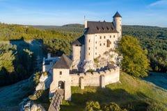 中世纪博博利采城堡在波兰 免版税图库摄影