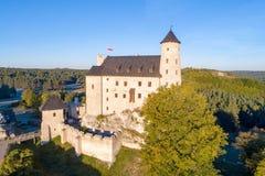 中世纪博博利采城堡在波兰 库存图片