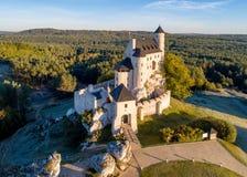 中世纪博博利采城堡在波兰 图库摄影