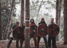 中世纪历史再制定 免版税库存照片