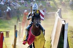 中世纪历史的节日,骑士竞争 库存图片