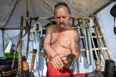 中世纪历史的节日 免版税库存照片