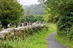 中世纪县坟园, Glendalough,县威克洛,爱尔兰 库存图片