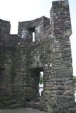 中世纪古老堡垒,马斯特里赫特的废墟 墙壁2的零件 免版税图库摄影