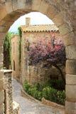中世纪命名的老好朋友西班牙语村庄 免版税库存照片