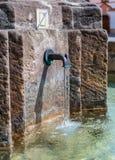 中世纪喷泉,赫拉德茨Kralove,捷克 免版税库存照片