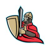 中世纪国王Regnant Mascot 库存图片