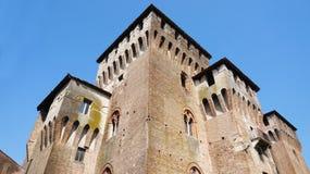 中世纪圣乔治城堡在曼托瓦曼托瓦,意大利 免版税库存照片