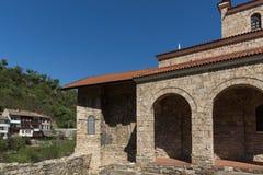 中世纪圣洁四十个受难者教会在市大特尔诺沃,保加利亚 免版税库存照片
