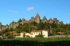 中世纪城堡卡尔卡松 免版税库存图片