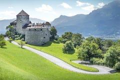 中世纪城堡在列支敦士登 免版税库存照片