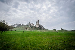 中世纪城堡在奥尔什丁,波兰 库存图片