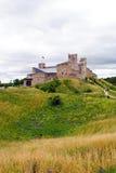 中世纪城堡在拉克韦雷,爱沙尼亚在夏天 库存照片