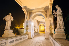 中世纪城堡在捷克克鲁姆洛夫,捷克共和国 联合国科教文组织世界遗产名录 免版税库存图片