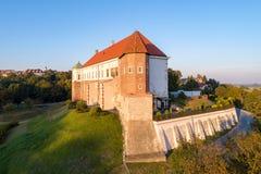 中世纪城堡在桑多梅日,波兰 免版税库存照片