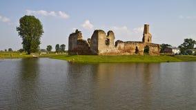 中世纪城堡在欧洲波兰 库存照片