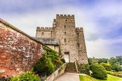 中世纪城堡在英国 库存图片