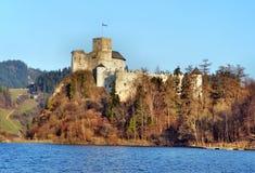 中世纪城堡在Niedzica,波兰 免版税库存图片