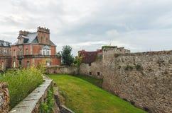 中世纪城堡墙壁  图库摄影