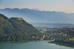 中世纪城堡小山 库存照片