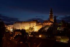 中世纪城堡捷克克鲁姆洛夫 库存照片
