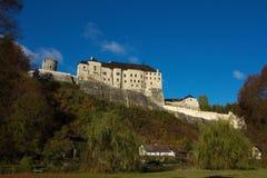 中世纪城堡捷克Sternberk 免版税图库摄影