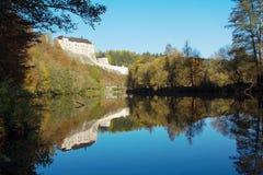 中世纪城堡捷克Sternberk 免版税库存照片