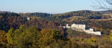 中世纪城堡捷克Sternberk 库存照片
