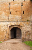 中世纪城堡的入口 库存图片