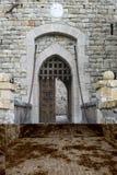 中世纪城堡的吊桥 库存照片