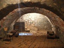 中世纪城堡的室 免版税库存图片