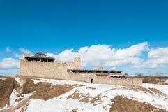中世纪城堡的废墟在拉克韦雷 免版税库存照片