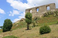 中世纪城堡的详细资料 免版税库存图片