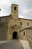 中世纪城堡的门 免版税库存照片