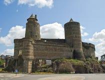 中世纪城堡的fougeres 免版税库存照片