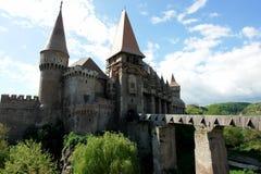 中世纪城堡的hunyad 免版税库存照片