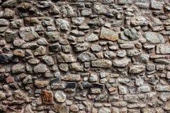 中世纪城堡石墙背景 免版税库存图片