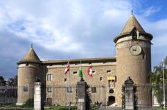 中世纪城堡莫尔日,瑞士 图库摄影