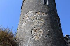 中世纪城堡,废墟, Howth,都伯林海湾,爱尔兰 免版税图库摄影