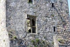 中世纪城堡,废墟, Howth,都伯林海湾,爱尔兰 免版税库存图片