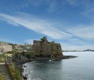 中世纪城堡,西西里岛。意大利。 图库摄影