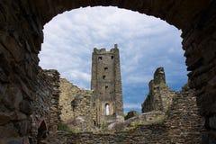 中世纪城堡破坏Okor 免版税库存照片