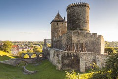 中世纪城堡- Bedzin,波兰 库存图片