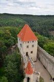 中世纪城堡Kokorin,捷克共和国 免版税库存照片
