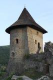 中世纪城堡Somoska的塔 库存图片
