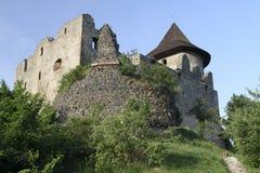 中世纪城堡Somoska的废墟 免版税图库摄影