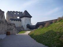 中世纪城堡Stari毕业在采列在斯洛文尼亚 库存图片