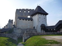 中世纪城堡Stari毕业在采列在斯洛文尼亚 免版税图库摄影
